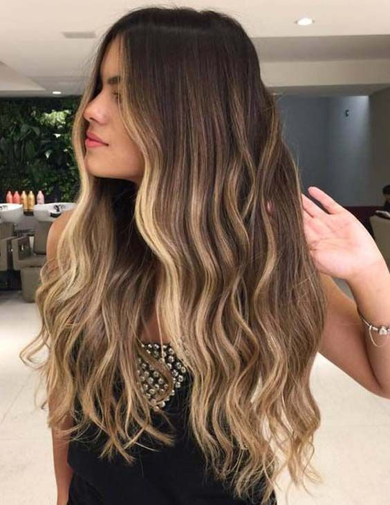 Top 33 Long Balayage Blonde Highlighted Hairstyles In 2018 O Que