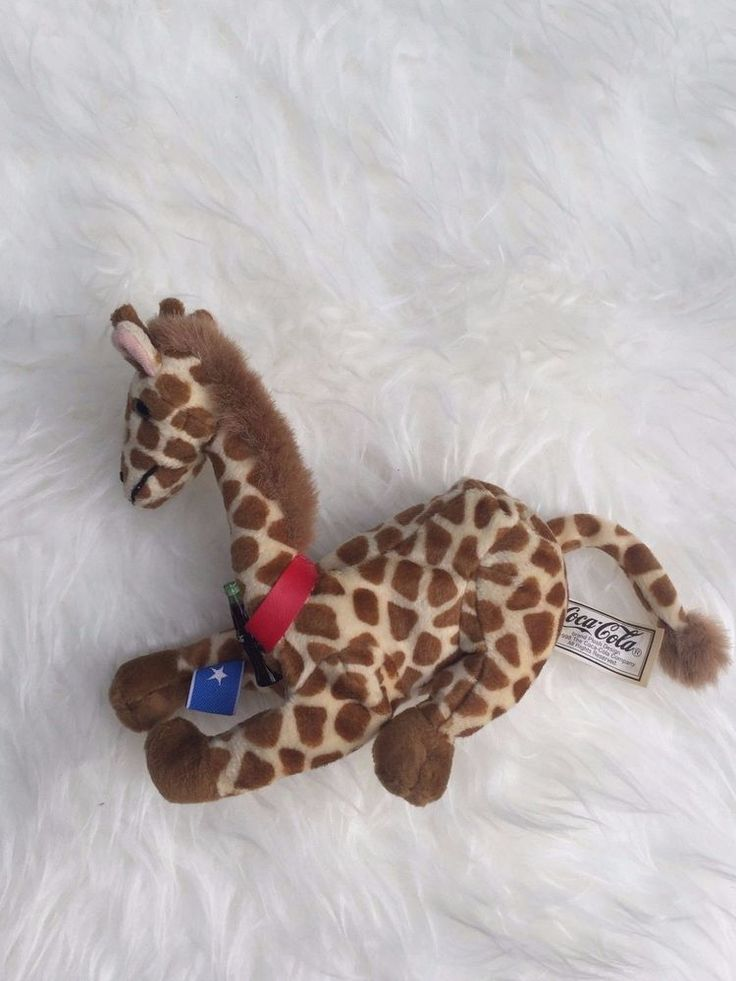 Coca Cola International 1998 Rifraff Giraffe Somalia Flag Collectible Plush Toy #CocaCola