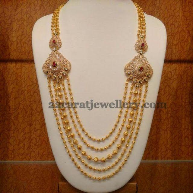 Jewellery Designs: Gold Balls Steps Haram