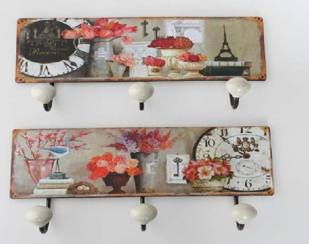 Colgador de pared vintage cuadros para cocina pinterest decoupage manualidades and vintage - Porta llaves pared ...