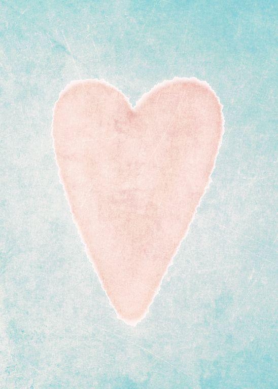 Print / Rosa Herz #print #poster #herz #rosa #heart #niedlich #wallart #türkis #frisch #frühling  #love #liebe #illustration #kinder #jugend