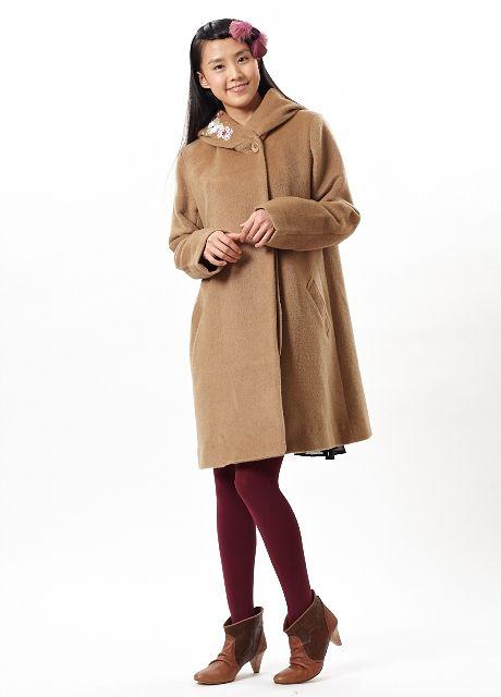 刺繍ウールコート【楽天市場】