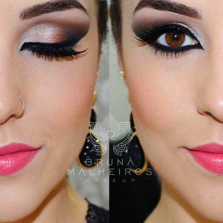 Maquiagem Noite: dica para alongar os olhos ~ Bruna Malheiros Makeup