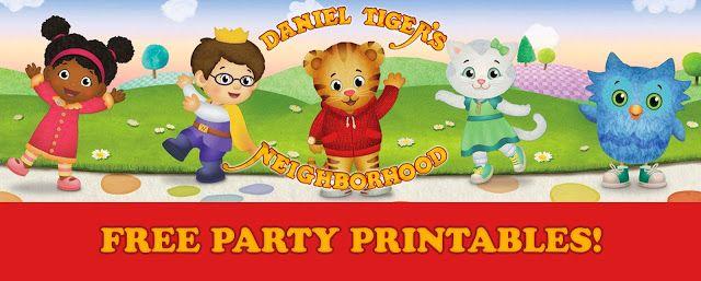 Daniel Tiger Birthday Party Printables   FREE Downloads