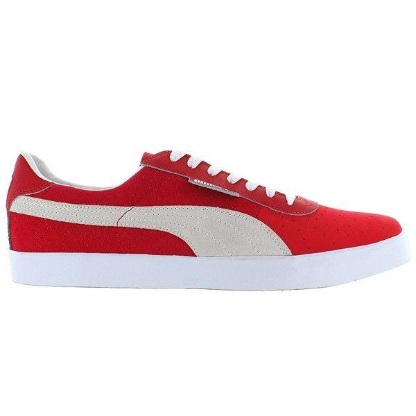 Puma G Vilas - Red Suede Low-top Sneaker