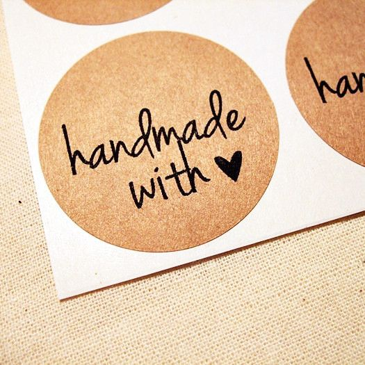 These handmade with love labels are printed with a handwritten font on a rustic kraft brown sticker paper. They are perfect for adding a lovely note to your homemade canning gifts! Choose your label s