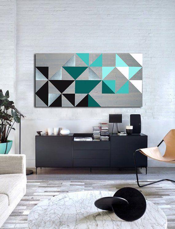 Geometric Wall Art Wood Wall Art Metal Art Modern Wall Art