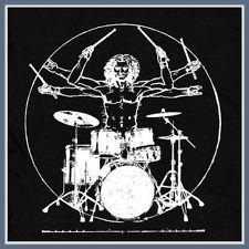Da Vinci Drums T SHIRT nwt new vintage Drum Man guitar pearl rock kit band TEE
