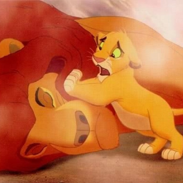 Day 8: Saddest Disney Moment has to be when Mufasa died and his son, Simba thought it was all his fault:(