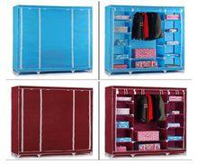 Home Furniture Storage Clothes Portable Closet Storage Organizer Bedroom Cabinet - Armoires & Wardrobes