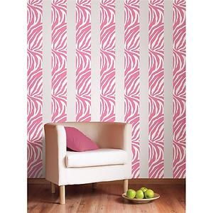 PINK ZEBRA PRINT 16u0027 Removable Vinyl Sticker Wall Border Wallpaper Room  Decor