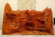 bearded dragon fake rock background