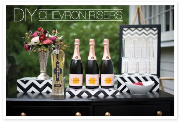 SMP at Home: DIY Chevron Risers | Style Me Pretty