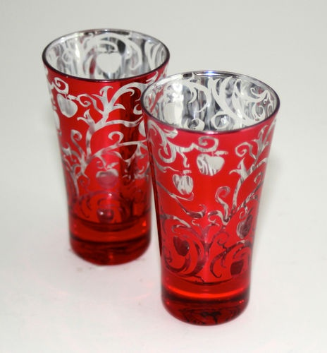 NEW Disney Snow White SET OF 2 Shot Glasses Red Poison Apple Once Upon ...