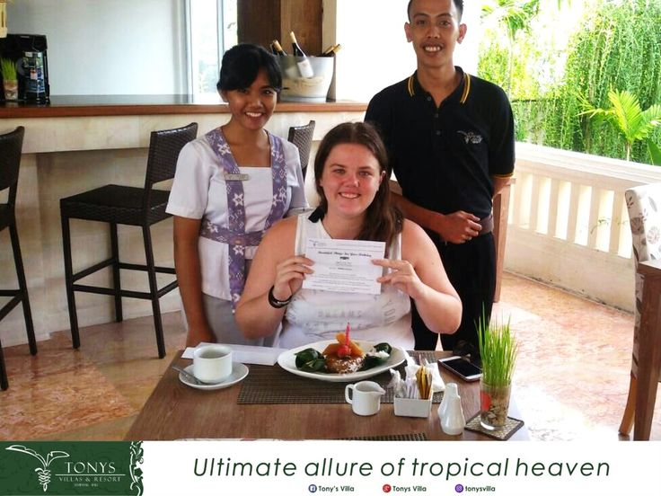 Congratulation for you Ms. Maddison. It such a pleasure we can celebrate your birthday during stay at Tonys Villas and Resort. Hope you get happiness along life.  . . . #bali #seminyak #tonysvilla #birthday #celebration #gift #voucher #candle #birthdaycake #happiness  www.balitonys.com