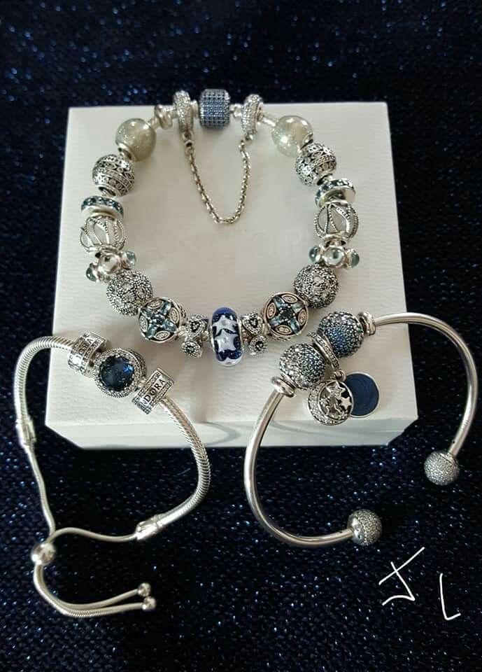 Pandora bracelet en bleu | Pandora bracelet designs, Pandora ...
