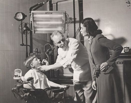 Here is a picture of a pediatric dentistry from the 1950s. In our office we are dedicated to educate, motivate, and promote good dental health in a child-friendly environment! #TBT