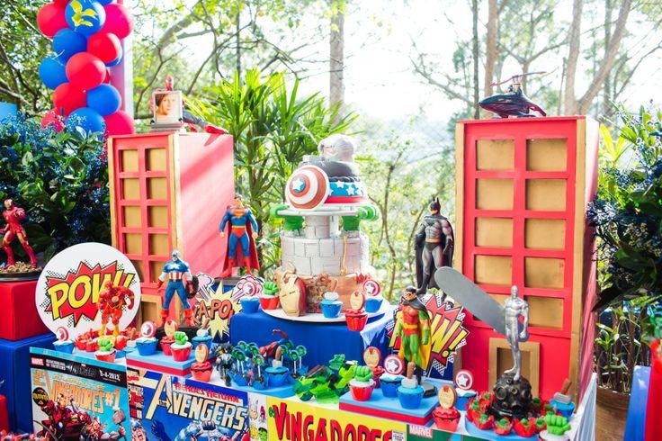 27 best images about Festa Os Vingadores on Pinterest Mesas, Marvel super heroes and Spiderman -> Decoração De Festa Os Vingadores