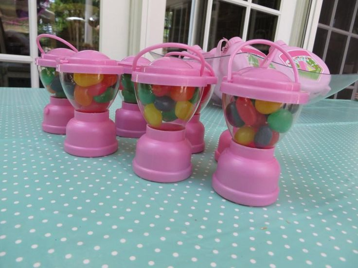 Glamping Party with Oriental Trading: For camp-themed favors, I used Camp Glam lantern candy containers filled with jelly beans.