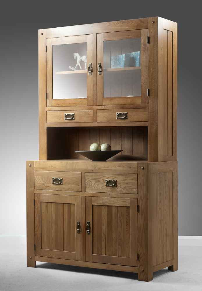 Quercus Solid Oak Furniture Range Oak Cabinet | Oak Welsh Dresser Oak  Furniture Land Www.