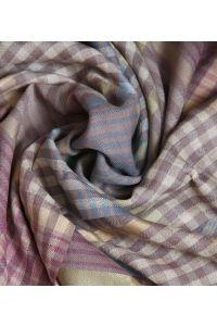 Beige Checkered Wool Stole