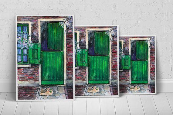The Green Door Art Print Poster on Etsy, $27.35 AUD