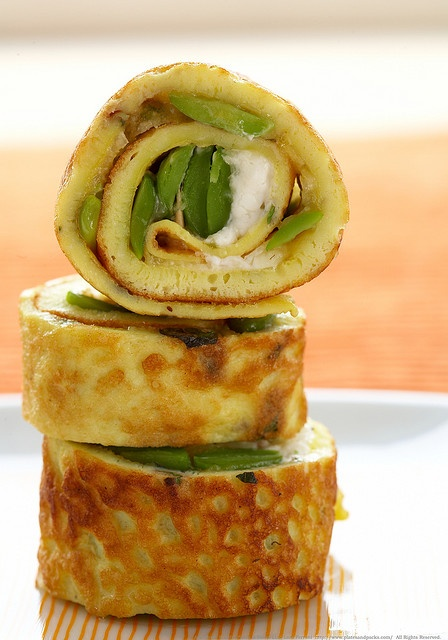 Fava bean rotollo - beautiful to look at and so good to taste