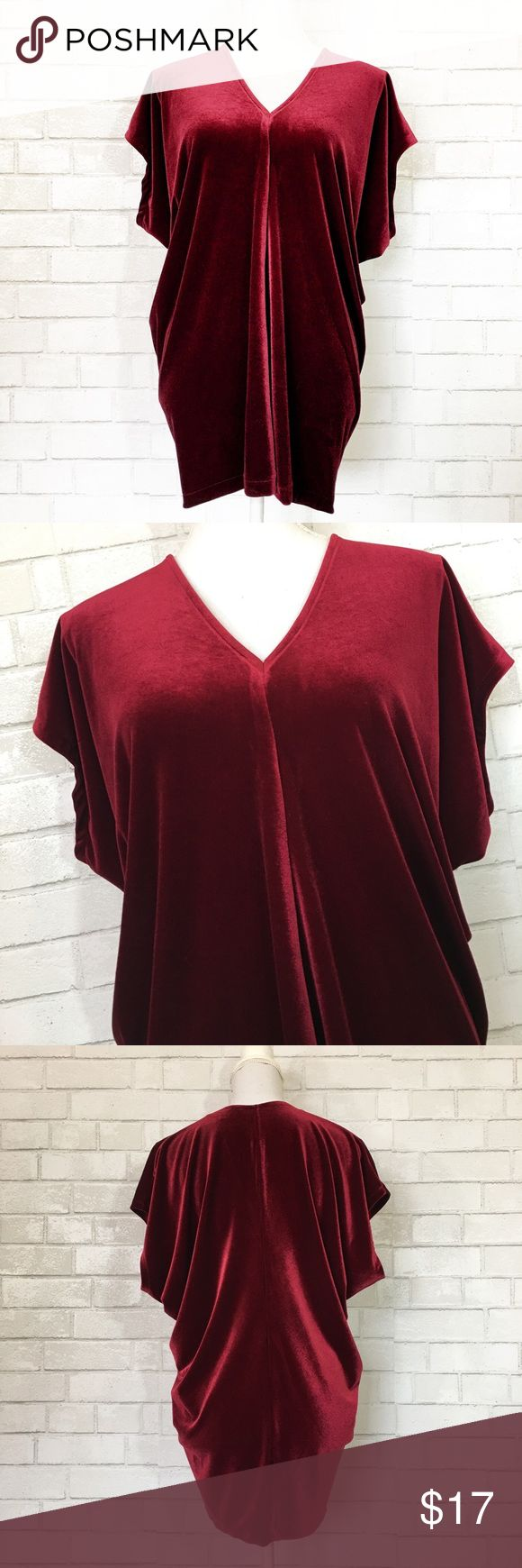 Lands End Ruby Red Velvet Dolman Tunic Top Preowned Great Used Condition Some Minor Wear On Right Sleeve Size Small Tunic Tops Clothes Design Ruby Red Velvet [ 1740 x 580 Pixel ]