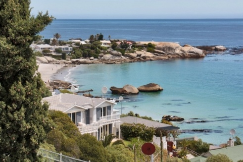 The view of Clifton Beach from Clifton Edge villa.