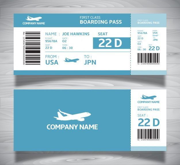 Boarding Ticket Pass Template In Blue Tones Free Http Westernmotodrags Com Boarding Pass Templa Boarding Pass Template Ticket Template Free Ticket Template
