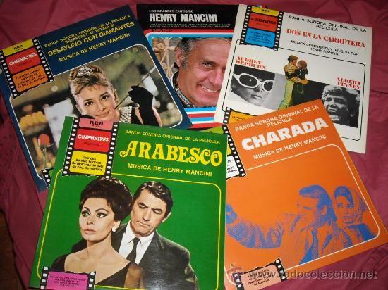 henry mancini lote 5 LP BANDA SONORA ORIGINAL RCA VER FOTOS EDWARDS . HEPBURN.DONEN. LOREN GRANT.