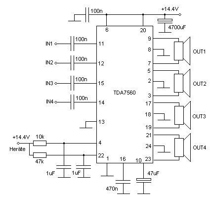 car audio wiring diagrams boss b9358 tda7560 audio amplifier circuit schematic | electronic ...