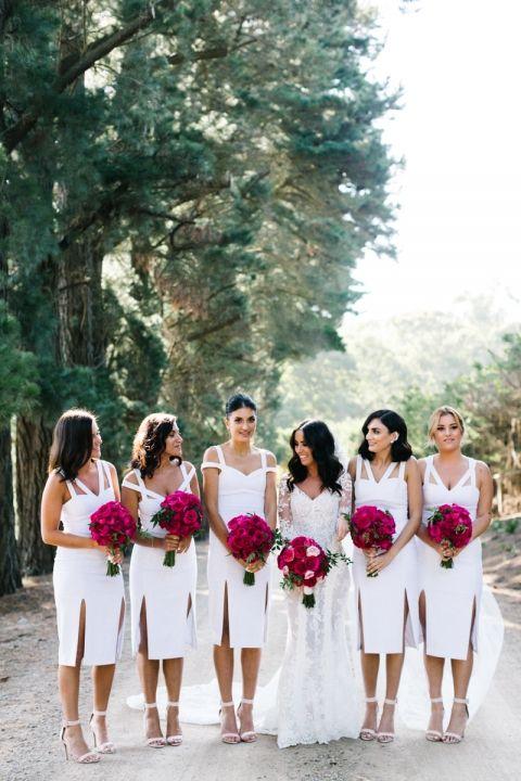 Beautiful Bride and Bridesmaids. Brides Dress: Steven Khalil. Location: Mornington Peninsula in Victoria Australia.