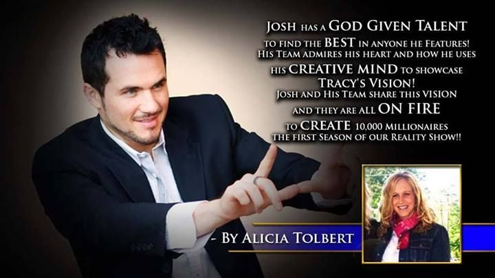 Josh has a God given talent to find the best in anyone he features. His team admires his heart and how he uses. His creative mind to showcase Tracy's vision and they are all on fire to create 10,000 millionaires, the first season of our reality show. -Alicia Tolbert #60SecondMillionaireTV #RevMediaUSA #MediaTeam @tracy_davison #tracy_davison #TracyDavison