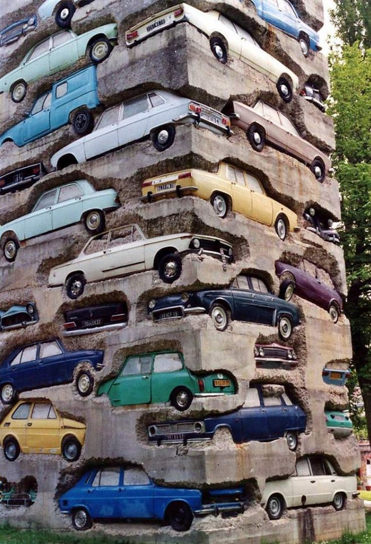 Arman, 'Long-term parking' (1982)