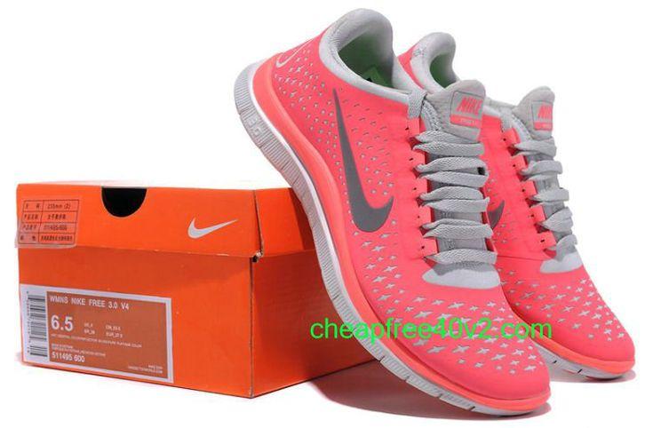 newest 2b78b 882b8 Ojk6680 Nike Free 3.0 V4 Women s Running Shoe (511495-600) Hot Punch ...