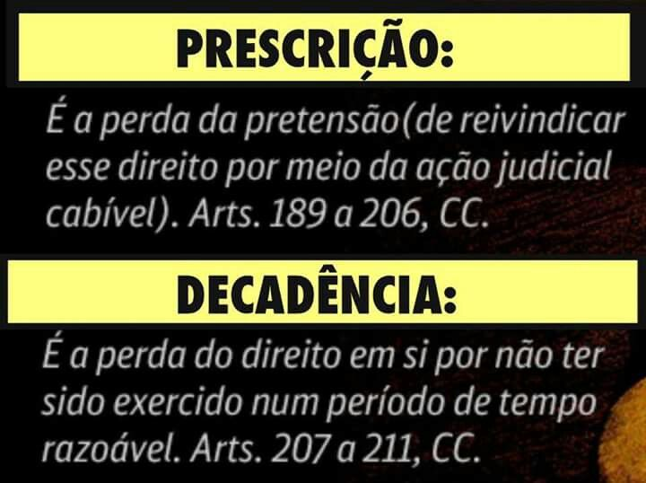 Prescricao x Decadencia
