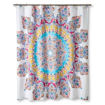 Ecom Shower Curtain Boho Boutique Medallion Multi Colored Psycottage Pinterest Shower