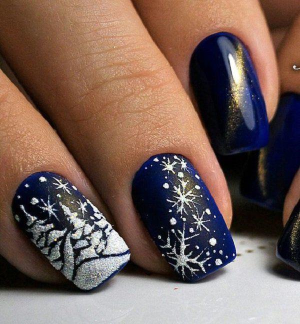 Snow Nail Art Ideas For Winter Holiday Nail Art Christmas