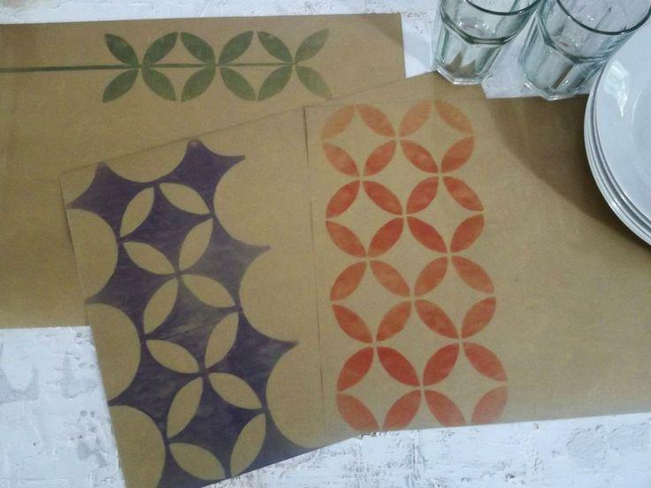 Mejores 33 im genes de manteles de papel kraft en for Manteles de papel para fiestas