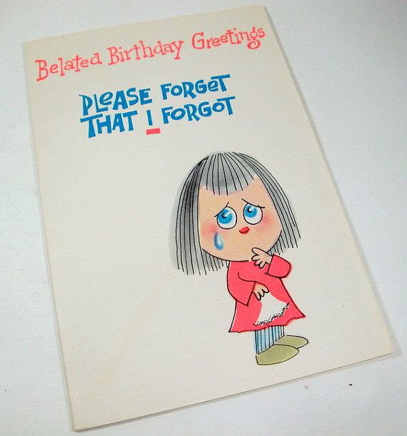 Vintage Belated Birthday Greetings Friendship by AntiquesGaloreGal