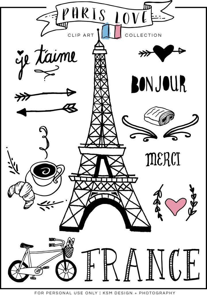 Paris Love Clipart {Free Download} | KSM Design + Photography