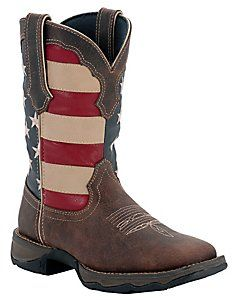 Durango® Rebel™ Ladies Dark Brown w/ American Flag Top Square Toe Western Boots Love these! I have to have them!