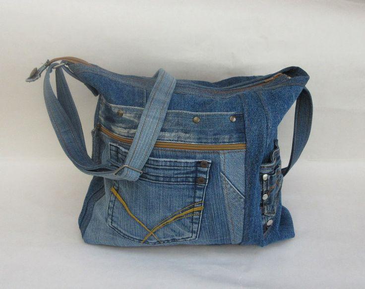 85 besten jeanstaschen bilder auf pinterest denim tasche brieftaschen und couture sac. Black Bedroom Furniture Sets. Home Design Ideas