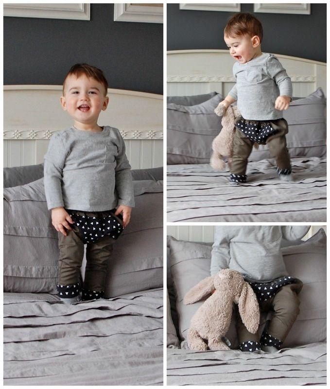 Toddler Kangaroo Pants #toddlerfashion #toddlerpants #diy