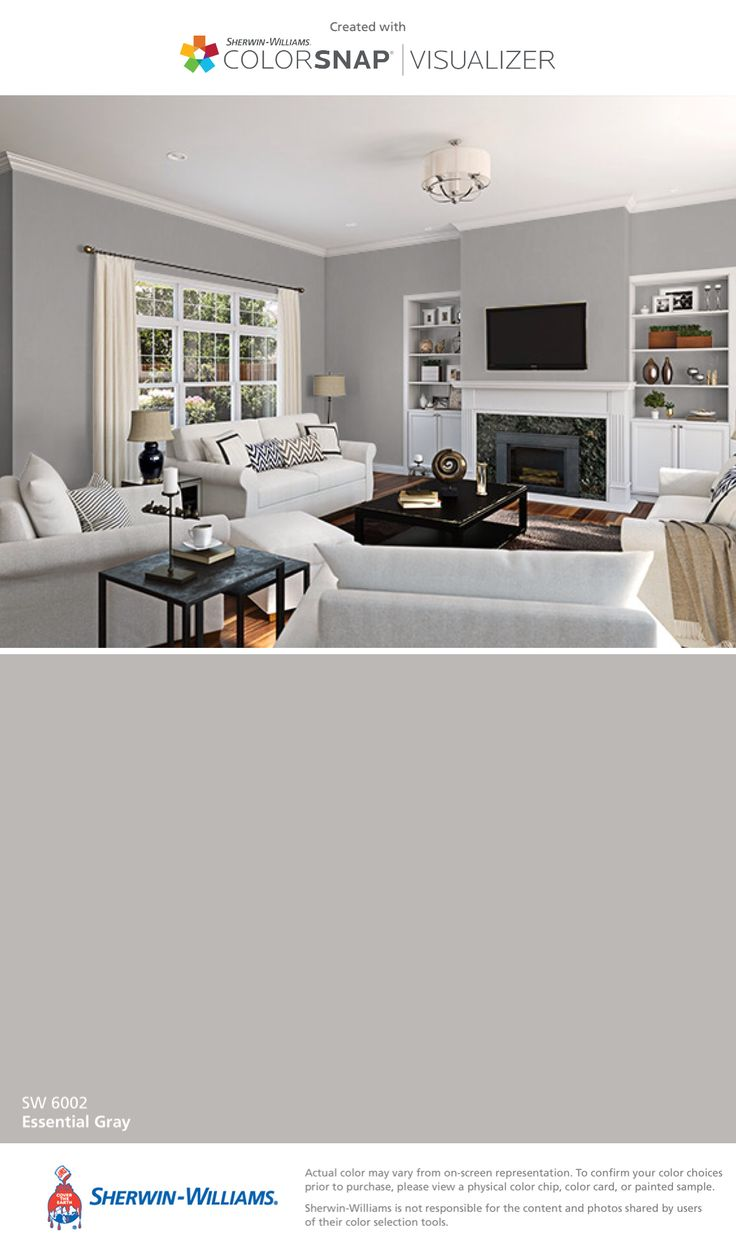I found this color with ColorSnap® Visualizer for iPhone by Sherwin-Williams: Essential Gray (SW 6002).