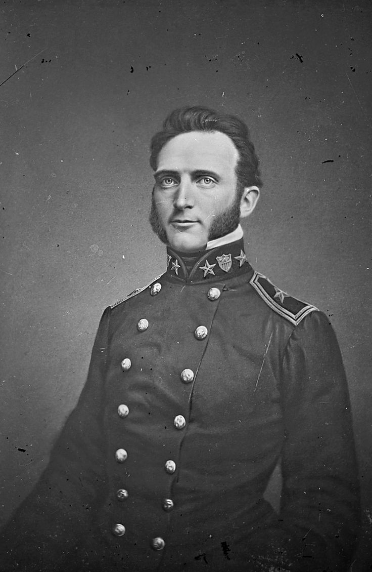 """Thomas """"Stonewall"""" Jackson, by Matthew Brady c. 1851.National Archives. Accidently killed by his own troops."""