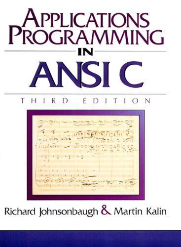 Applications Programming in ANSI C (3rd Edition)