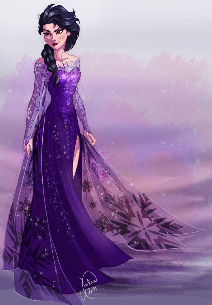 Dark Elsa By Juliajm15 On Deviantart Disney Princesses