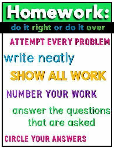 Homework: do it right or do it over - FREE Math Poster Download!